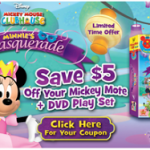 CLOSED: A Mickey Mouse Clubhouse DVD: Minnie's Masquerade with a Mickey Mote (+ Giveaway)