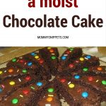 How to make a moist chocolate cake.