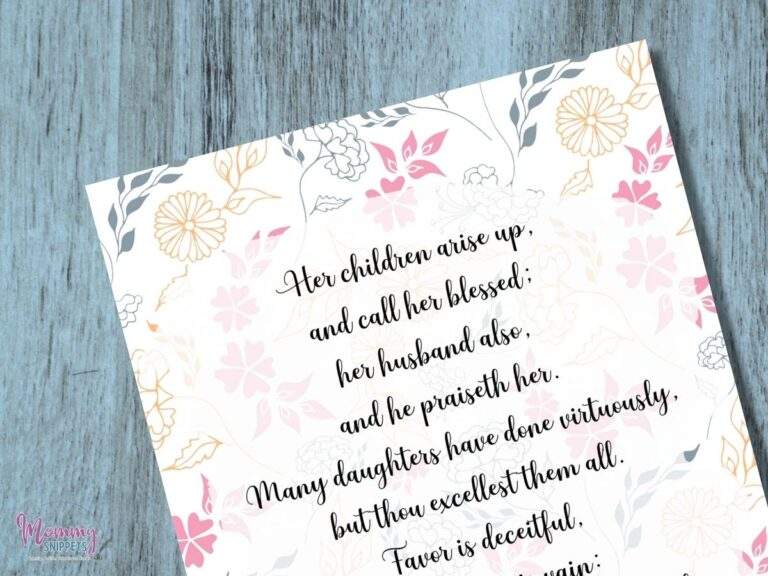 Encouragement for the Tired Mama : 9 Free Printable Scripture Cards and Prayers
