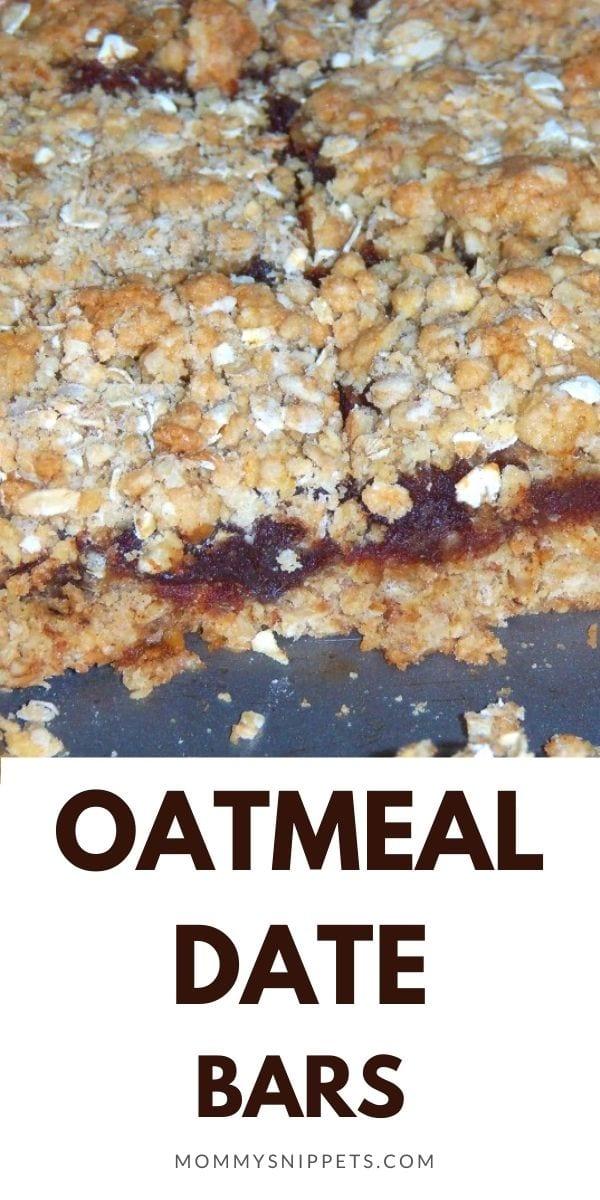 Oatmeal Date Bars Recipe