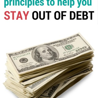 5 principles to help you stay out of debt