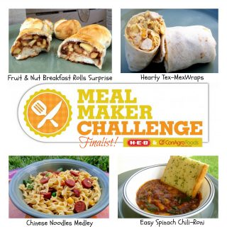Finalist in the HEB/ConAgra Meal Maker Challenge 2012!
