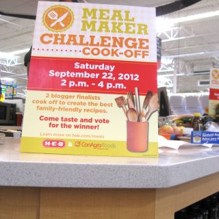 Winning the H-E-B/ConAgra Meal Maker Challenge 2012…A Dream.