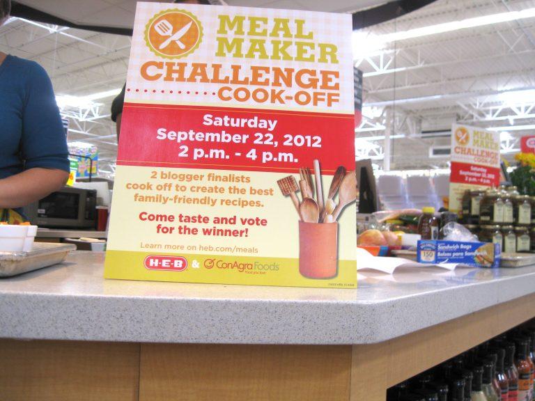 Winning the H-E-B/ConAgra Meal Maker Challenge 2012…A Dream.