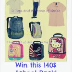 School…here I come! {A 140$ Sweeps…Uniforms, Backpack & Lunch Kit!}