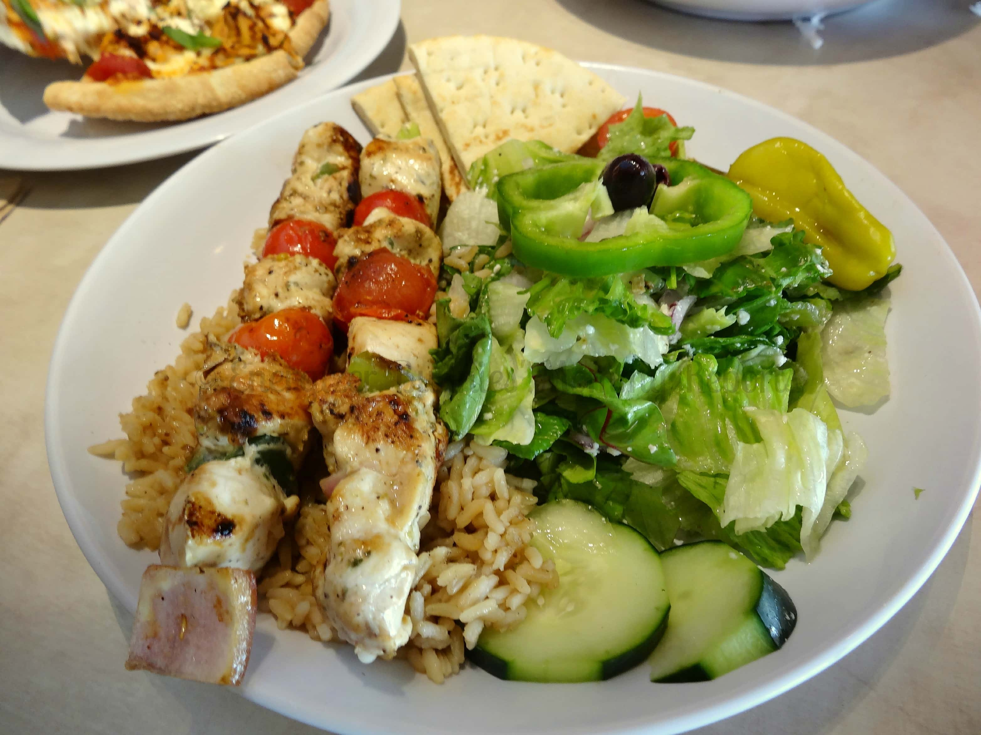Zoes Kitchen Greek Chicken Pita mediterranean meets south in zoes kitchen - mommy snippets