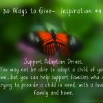 30 Ways To Give – Support Adoption Drives {#30DayGive}