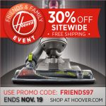30% off everything on Hoover.com till 11/19 {HOT Coupon Code!}