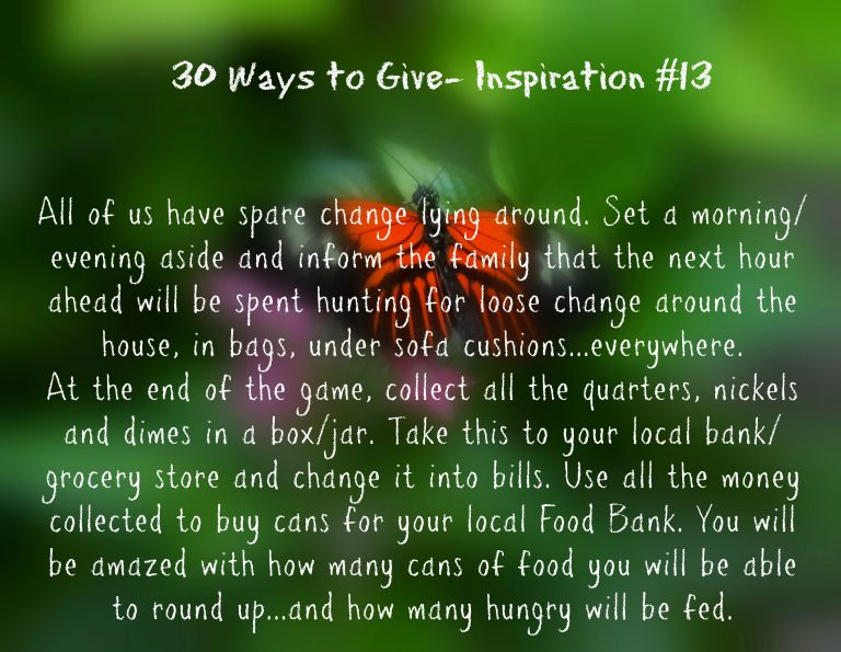 """30 Ways To Give- """"Can"""" that spare change {#30DayGive}"""
