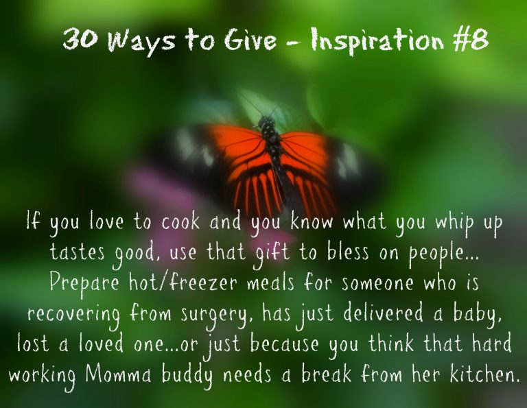 30 Ways To Give – Culinary Giving! {#30DayGive}