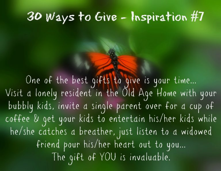 30 Ways To Give – Give Your Time {#30DayGive}