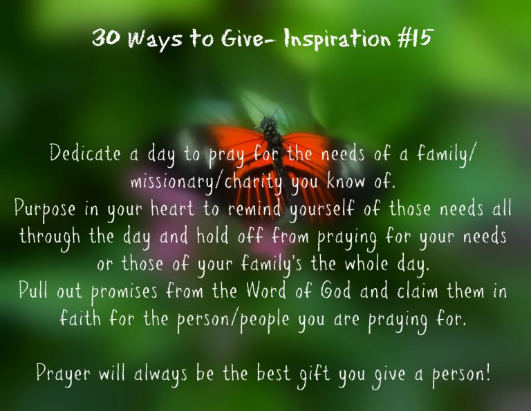 30 Ways To Give- Give in Prayer {#30DayGive}