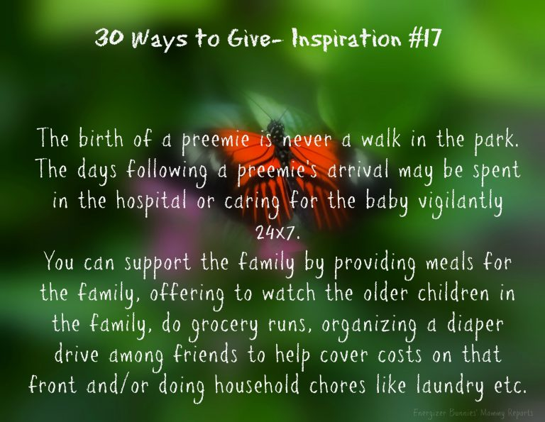 30 Ways To Give- Support a Newborn Preemie's Family {#30DayGive}