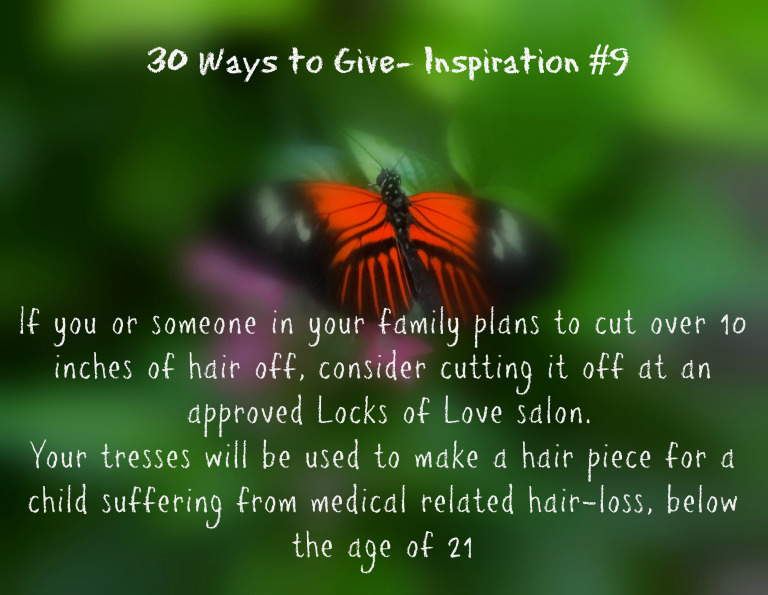 30 Ways To Give – Locks of Love {#30DayGive}