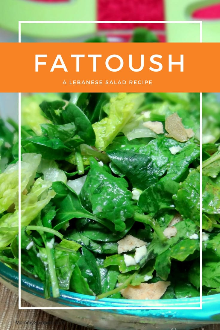 Fattoush- a Lebanese salad recipe- MommySnippets.com