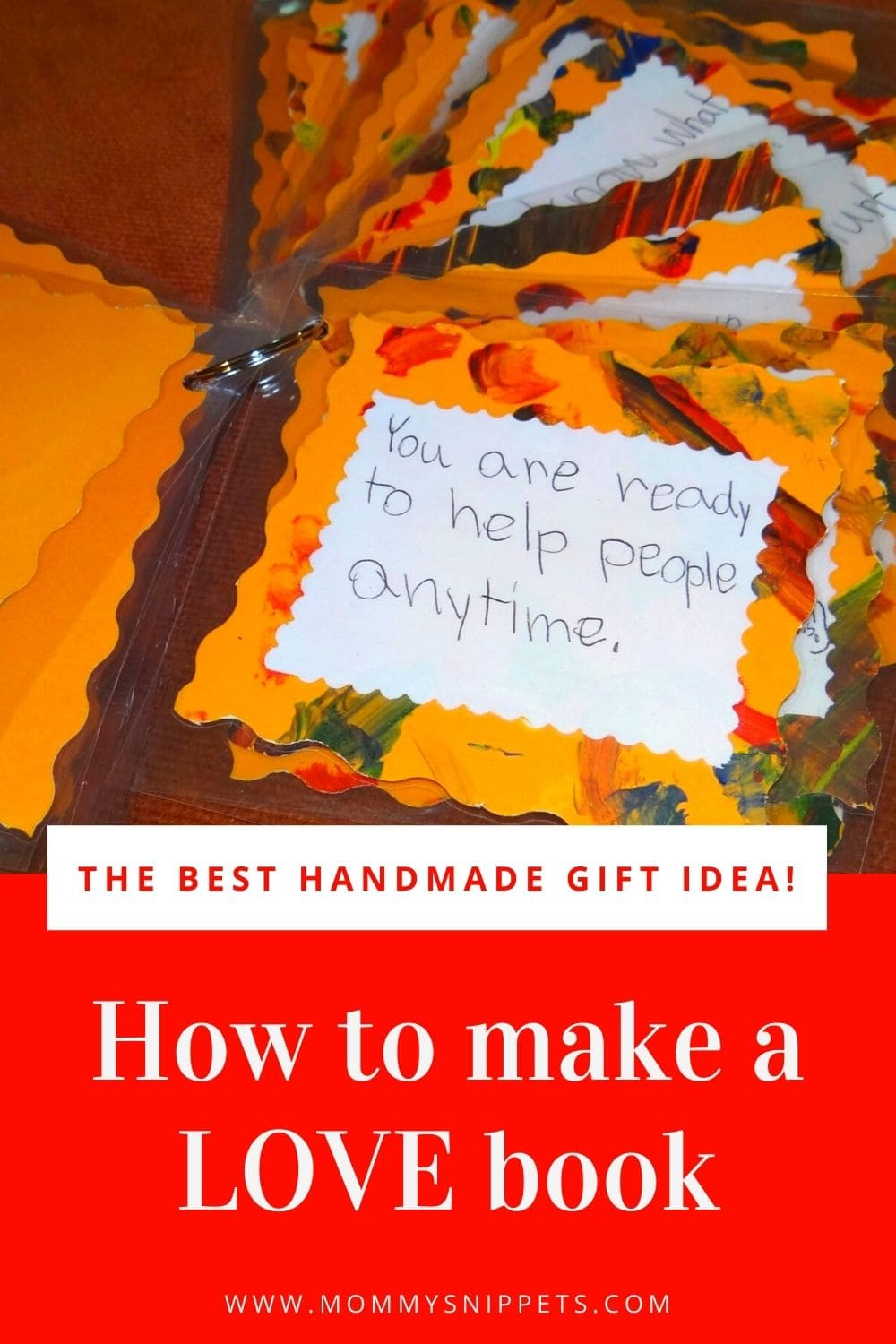 How to Make a Love Book -An Easy Handmade Gift Idea for Kids