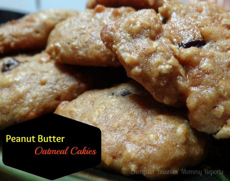 Peanut Butter Oatmeal Cakies {A Healthy Snack Recipe for the Kids.}