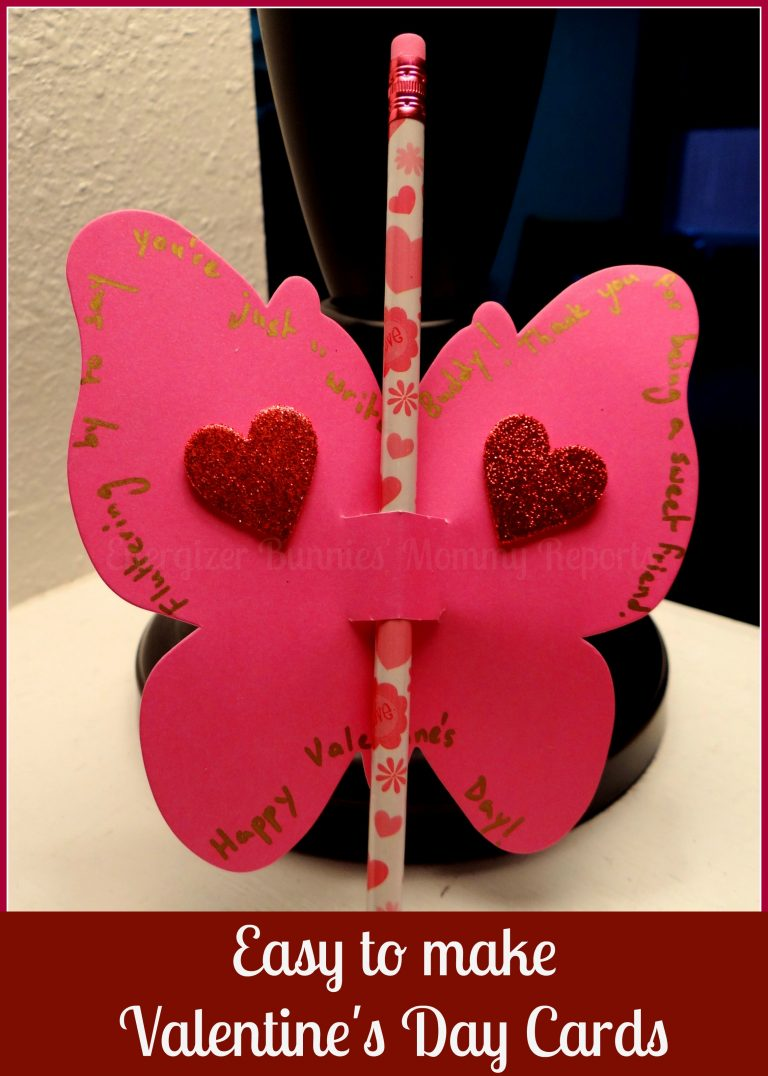 Easy to make Valentine's Day Butterfly Cards {Tutorial}