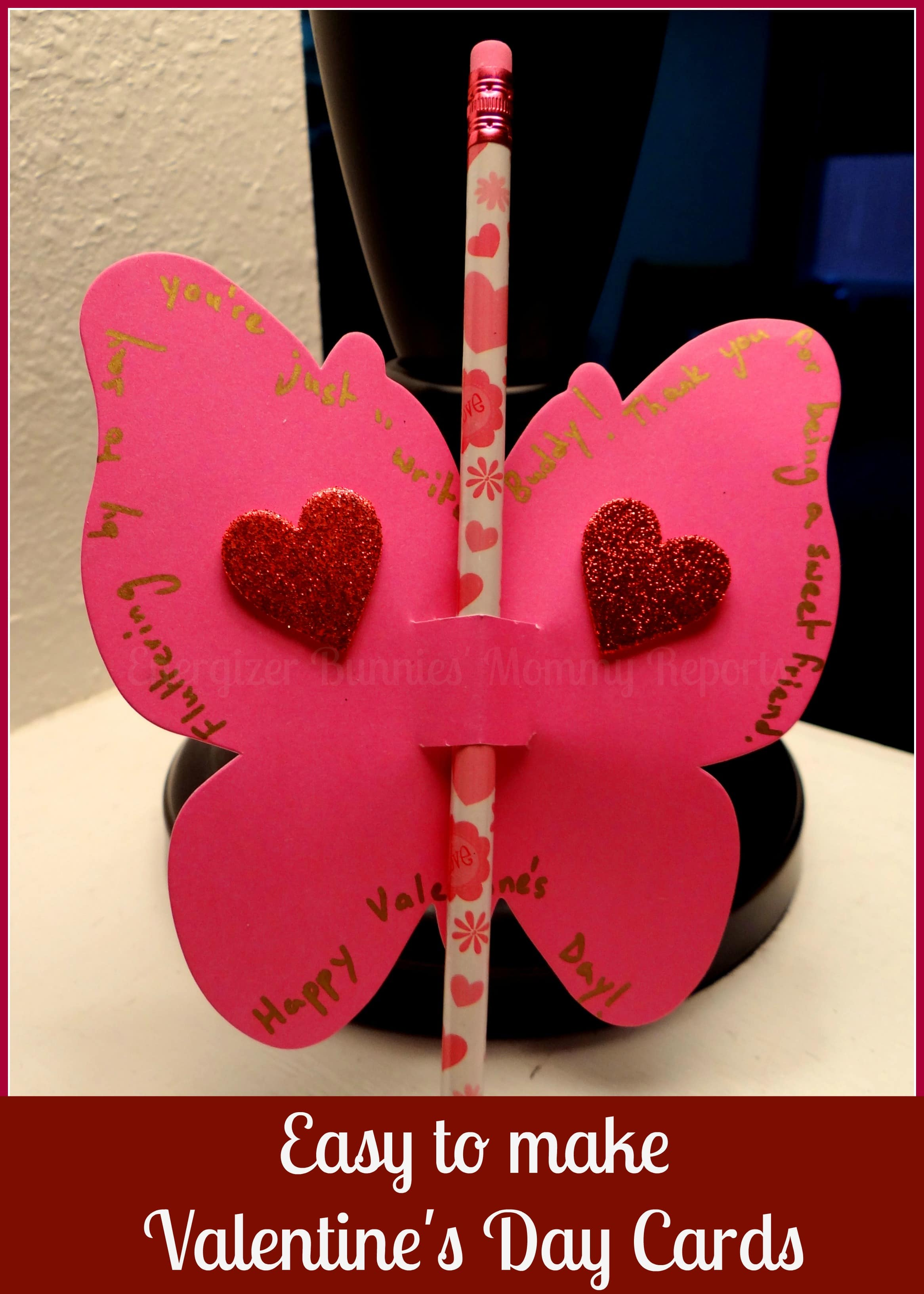 Easy to make Valentines Day Butterfly Cards Tutorial – How to Make Valentines Cards