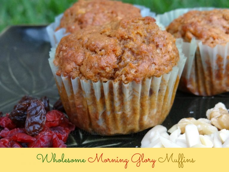 Wholesome Morning Glory Muffins.