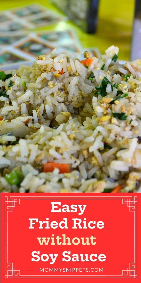 Fried Rice without any soy sauce