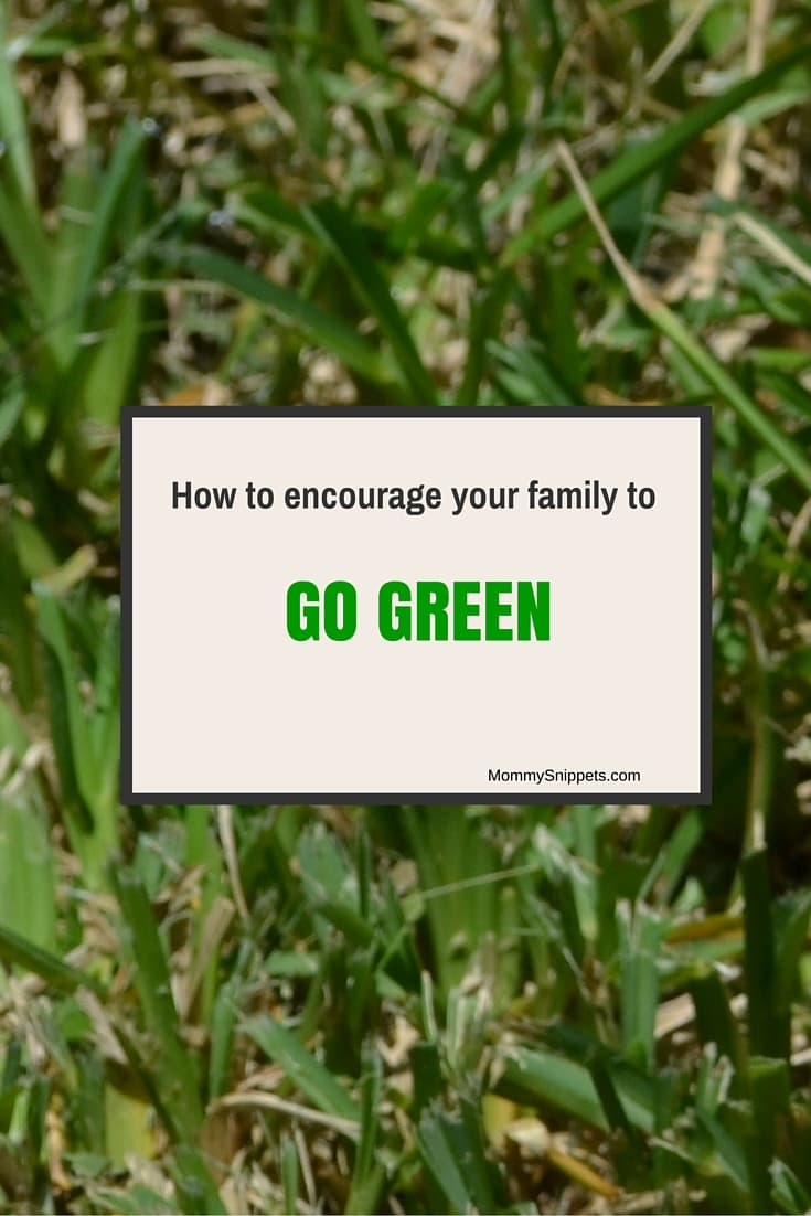 How to encourage your family to GO GREEN!