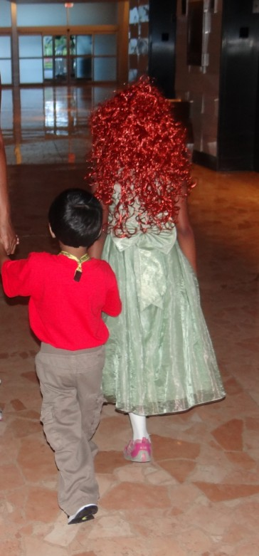Crowning Princess Merida at Walt Disney World. Photo Copyright- Energizer Bunnies' Mommy Reports (4)