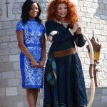 Gabby Douglas & Princess Merida. Photo Copyright-Energizer Bunnies' Mommy Reports