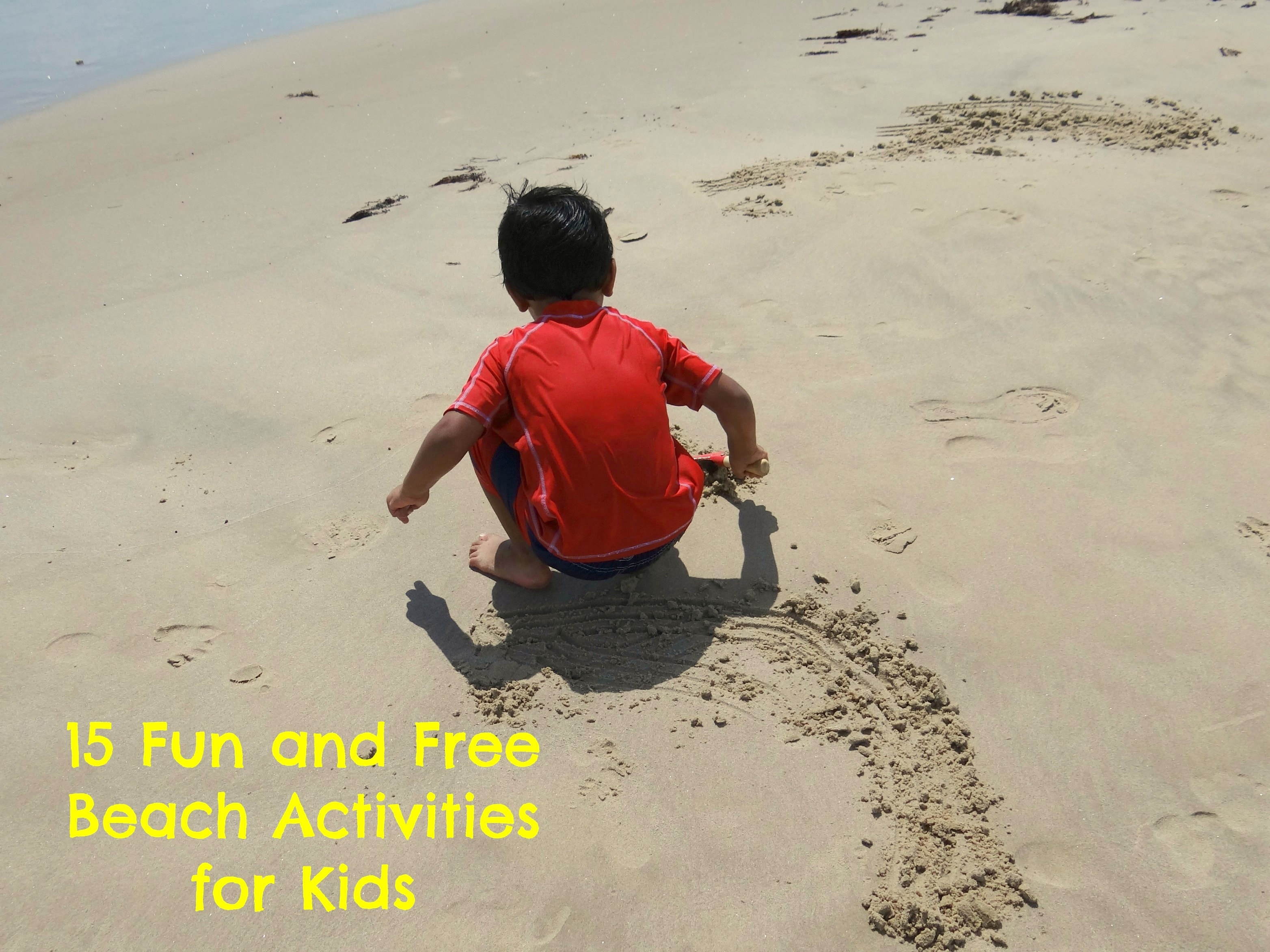 15 fun and free beach activities for kids mommy snippets
