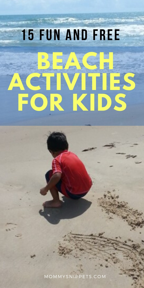 15 Fun and Free Beach Activities for Kids- MommySnippets.com