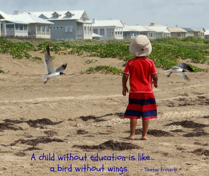 A child without education-quote