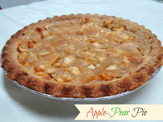 Apple-Pear Pie Recipe- Mommy Snippets
