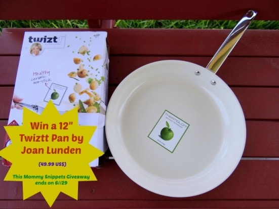 Win a 12 inch Twizzt Pan by Joan Lunden. Giveaway ends on 6-29. (Visit Mommy Snippets to enter.)