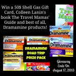 Win a HUGE Dramamine Road Trip Gift pack (Giveaway ends 8-17) on Mommy Snippets