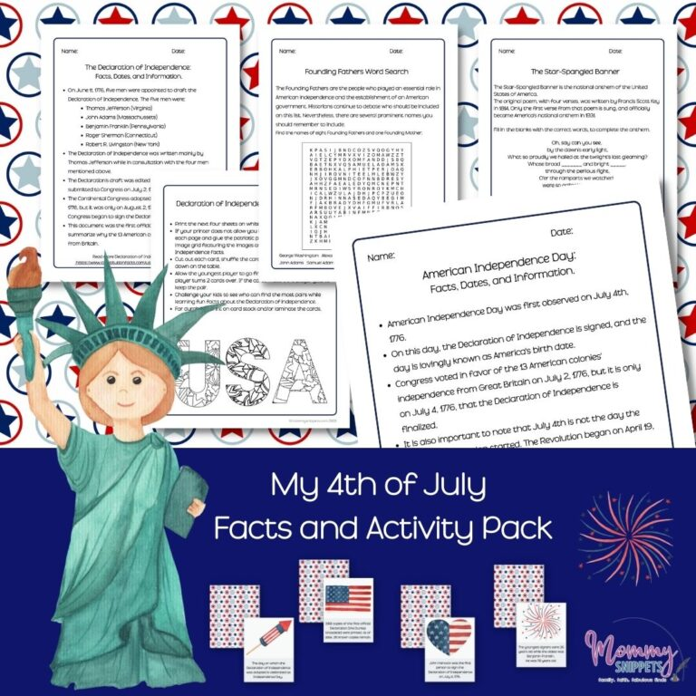 A 4th of July Prayer to Celebrate America's Independence Day (+ Free 4th of July Facts and Activity Pack)