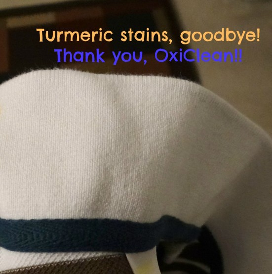 Turmeric stains, goodbye! Thank you, OxiClean!!- Mommy Snippets
