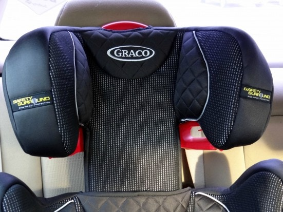 Headrest of a Graco Booster Seat