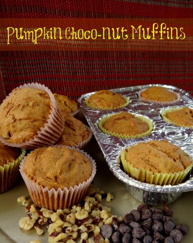 Pumpkin Choco-Nut Muffins