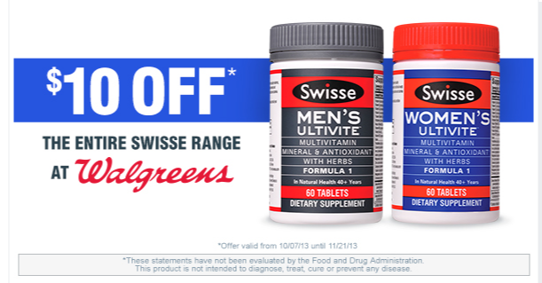 Take $10 off your next Swisse purchase at Walgreens - Swisse.com