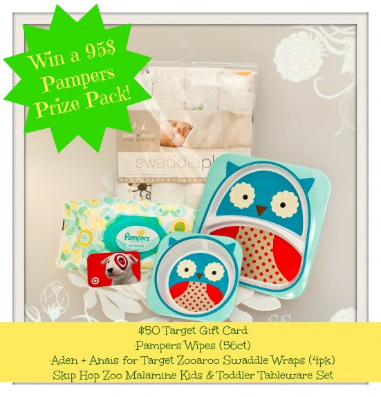 Win a 95$ Pampers Prize Pack from Target (Giveaway ends 11-9-2013)