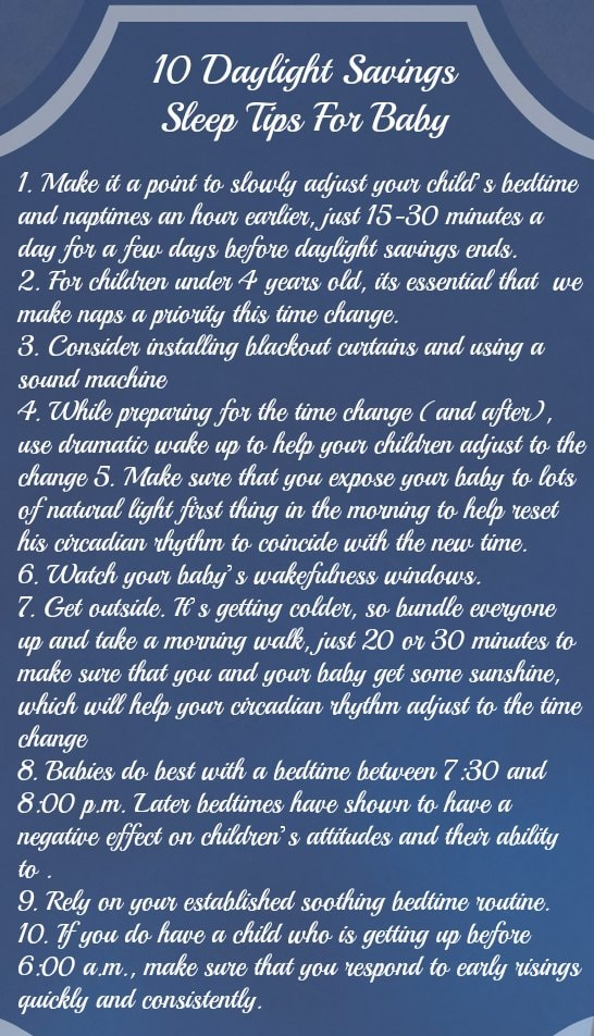 10 Daylight Savings Sleep Tips For Baby.
