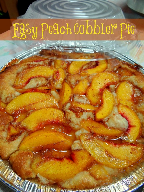 Easy Peach Cobbler Pie- Mommy Snippets