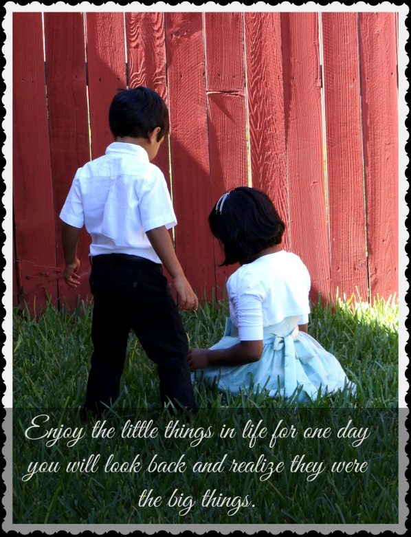 Enjoy the little things in life quote- Mommy Snippets