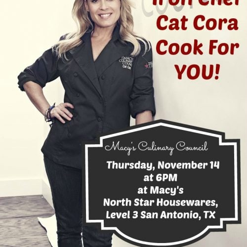 Let Chef Cat Cora cook for YOU in San Antonio on 11-14. (6 pm)