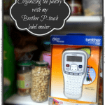 Organizing the pantry with my Brother P-touch label maker. {#PTouch25 #MC}
