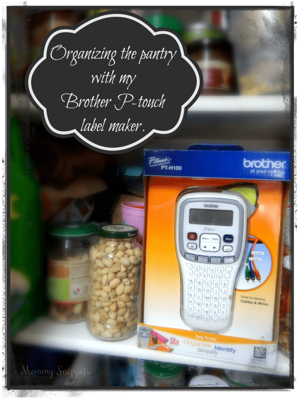 Organizing the pantry with my Brother P-touch label maker. (#MC #Sponsored #PTouch25)