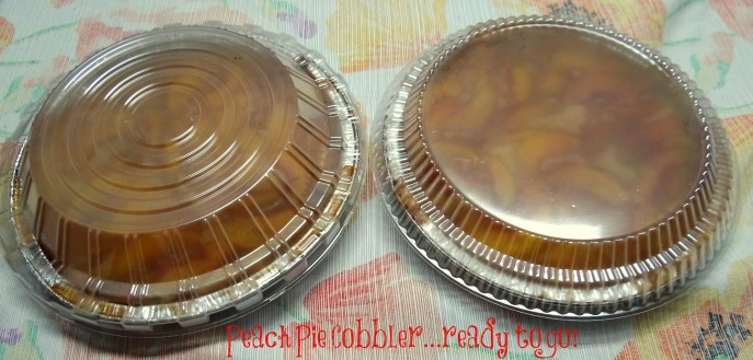 Peach Pie Cobbler- Handi-foil ready to go