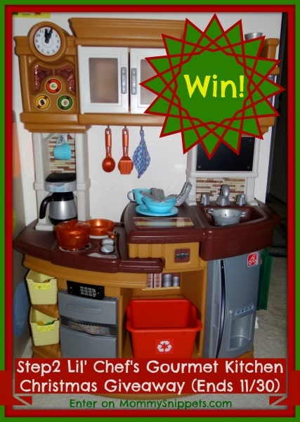 Win a Step2  Lil' Chef's Gourmet Kitchen (This Mommy Snippets Christmas Giveaway ends on 11-30-2013)