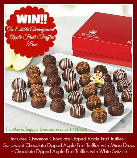 Win an Edible Arrangements Apple Fruit Truffle Box on Mommy Snippets (Giveaway ends 11-23)