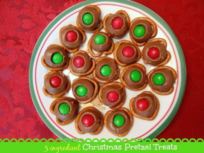 Christmas Pretzel Treats